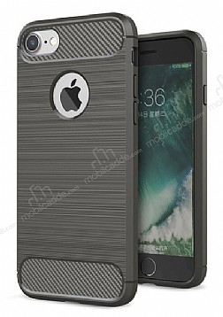 Eiroo Carbon Shield iPhone 7 / 8 Ultra Koruma Dark Silver Kılıf