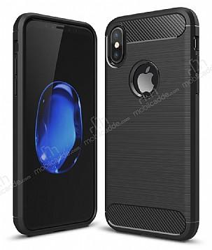 Eiroo Carbon Shield iPhone X Ultra Koruma Siyah Kılıf