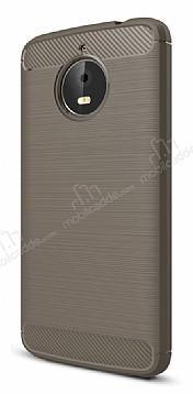 Eiroo Carbon Shield Motorola Moto E4 Plus Ultra Koruma Dark Silver Kılıf