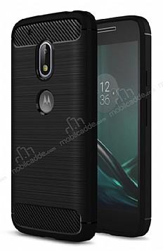 Eiroo Carbon Shield Motorola Moto G4 Ultra Koruma Siyah Kılıf