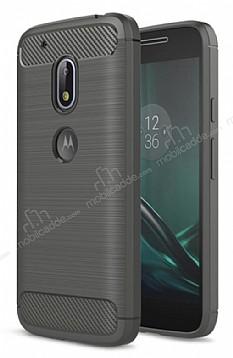 Eiroo Carbon Shield Motorola Moto G4 Ultra Koruma Dark Silver Kılıf