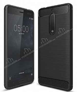 Eiroo Carbon Shield Nokia 5 Ultra Koruma Siyah Kılıf