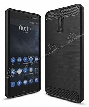 Eiroo Carbon Shield Nokia 6 Ultra Koruma Siyah Kılıf