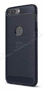 Eiroo Carbon Shield OnePlus 5 Ultra Koruma Lacivert Kılıf