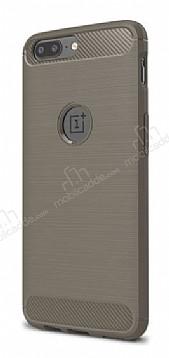 Eiroo Carbon Shield OnePlus 5 Ultra Koruma Gri Kılıf