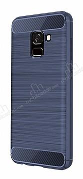 Eiroo Carbon Shield Samsung Galaxy A8 2018 Ultra Koruma Lacivert Kılıf