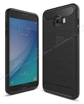 Eiroo Carbon Shield Samsung Galaxy C5 Pro Ultra Koruma Siyah Kılıf