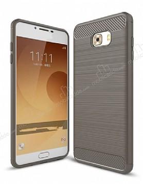 Eiroo Carbon Shield Samsung Galaxy C9 Pro Ultra Koruma Dark Silver Kılıf