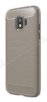 Eiroo Carbon Shield Samsung Galaxy J2 Pro 2018 Ultra Koruma Dark Silver Kılıf