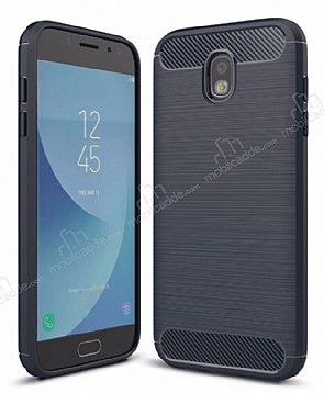 Eiroo Carbon Shield Samsung Galaxy J5 Pro 2017 Ultra Koruma Lacivert Kılıf