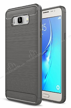 Eiroo Carbon Shield Samsung Galaxy J7 2016 Ultra Koruma Dark Silver Kılıf