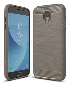 Eiroo Carbon Shield Samsung Galaxy J7 Pro 2017 Ultra Koruma Dark Silver Kılıf
