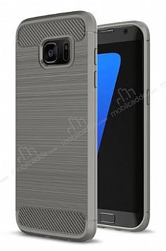 Eiroo Carbon Shield Samsung Galaxy S7 edge Ultra Koruma Dark Silver Kılıf