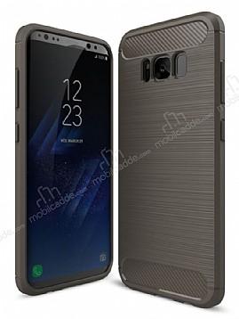 Eiroo Carbon Shield Samsung Galaxy S8 Ultra Koruma Dark Silver Kılıf
