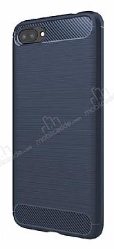 Eiroo Carbon Shield Asus Zenfone 4 Max ZC554KL Ultra Koruma Lacivert Kılıf