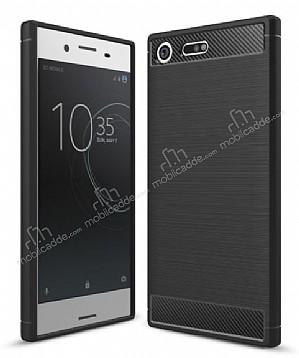 Eiroo Carbon Shield Sony Xperia XZ Premium Ultra Koruma Siyah Kılıf