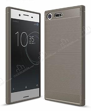 Eiroo Carbon Shield Sony Xperia XZ Premium Ultra Koruma Dark Silver Kılıf