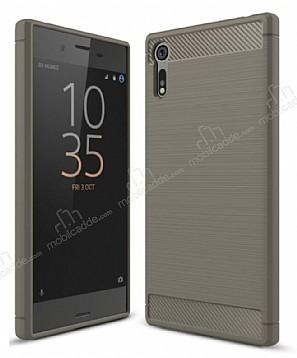 Eiroo Carbon Shield Sony Xperia XZ Süper Koruma Dark Silver Kılıf