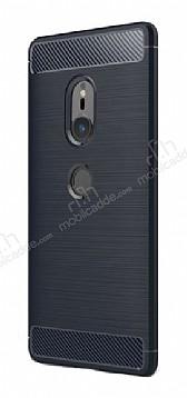 Eiroo Carbon Shield Sony Xperia XZ2 Ultra Koruma Lacivert Kılıf
