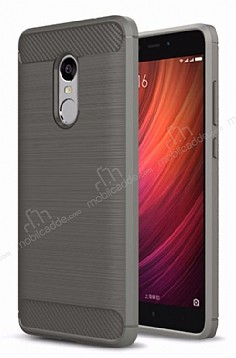 Eiroo Carbon Shield Xiaomi Redmi Note 4 / Redmi Note 4X Ultra Koruma Dark Silver Kılıf