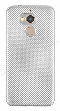 Eiroo Carbon Thin General Mobile GM 8 Ultra İnce Silver Silikon Kılıf