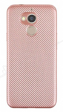 Eiroo Carbon Thin General Mobile GM 8 Ultra İnce Rose Gold Silikon Kılıf