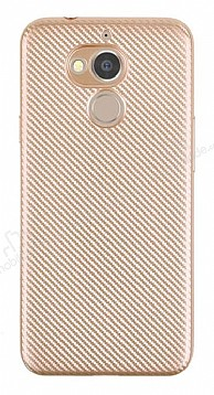 Eiroo Carbon Thin General Mobile GM 8 Ultra İnce Gold Silikon Kılıf