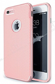 Eiroo Carbon Thin iPhone 6 / 6S Ultra İnce Rose Gold Silikon Kılıf