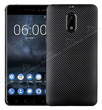 Eiroo Carbon Thin Nokia 6 Ultra İnce Siyah Silikon Kılıf