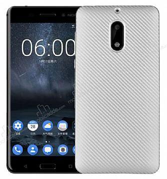Eiroo Carbon Thin Nokia 6 Ultra İnce Silver Silikon Kılıf