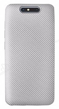 Eiroo Carbon Thin Turkcell T80 Ultra İnce Silver Silikon Kılıf