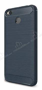 Eiroo Carbon Shield Xiaomi Redmi 4X Ultra Koruma Lacivert Kılıf