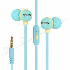 Eiroo Cartoon Mikrofonlu Kulakiçi Mavi Kulaklık