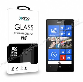Eiroo Nokia Lumia 520 / 525 Tempered Glass Cam Ekran Koruyucu