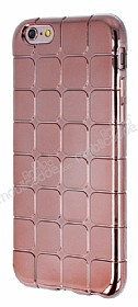 Eiroo Checker iPhone 6 Plus / 6S Plus Metalik Rose Gold Silikon K�l�f