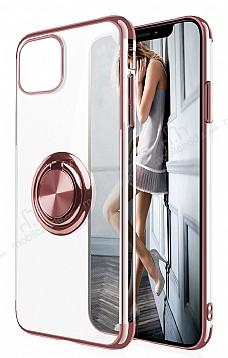 Eiroo Clear Ring Samsung Galaxy Note 10 Lite Rose Gold Kenarlı Silikon Kılıf