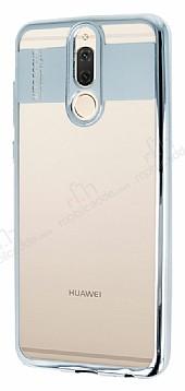 Eiroo Clear Thin Huawei Mate 10 Lite Silver Kenarlı Şeffaf Silikon Kılıf