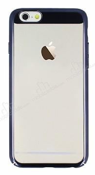 Eiroo Clear Thin iPhone 6 / 6S Siyah Kenarlı Şeffaf Rubber Kılıf