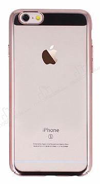 Eiroo Clear Thin iPhone 6 / 6S Rose Gold Kenarlı Şeffaf Rubber Kılıf