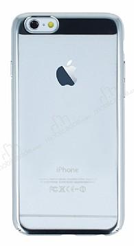 Eiroo Clear Thin iPhone 6 / 6S Silver Kenarlı Şeffaf Rubber Kılıf