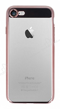 Eiroo Clear Thin iPhone 7 / 8 Rose Gold Kenarlı Şeffaf Rubber Kılıf