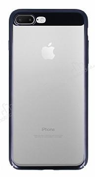 Eiroo Clear Thin iPhone 7 Plus / 8 Plus Siyah Kenarlı Şeffaf Rubber Kılıf