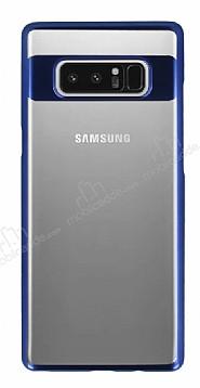 Eiroo Clear Thin Samsung Galaxy Note 8 Lacivert Kenarlı Şeffaf Rubber Kılıf