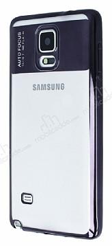 Eiroo Clear Thin Samsung Galaxy Note 4 Siyah Kenarlı Şeffaf Silikon Kılıf