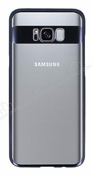Eiroo Clear Thin Samsung Galaxy S8 Siyah Kenarlı Şeffaf Rubber Kılıf