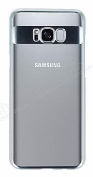 Eiroo Clear Thin Samsung Galaxy S8 Plus Silver Kenarlı Şeffaf Rubber Kılıf