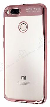 Eiroo Clear Thin Xiaomi Mi 5X / Mi A1 Rose Gold Kenarlı Şeffaf Silikon Kılıf