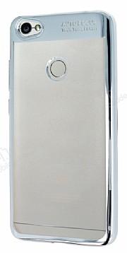 Eiroo Clear Thin Xiaomi Redmi Note 5A / 5A Prime Silver Kenarlı Şeffaf Silikon Kılıf