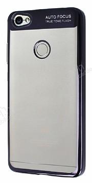 Eiroo Clear Thin Xiaomi Redmi Note 5A / 5A Prime Siyah Kenarlı Şeffaf Silikon Kılıf