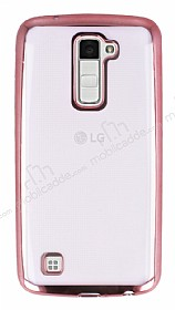 Eiroo Color Fit LG K10 Rose Gold Kenarl� �effaf Silikon K�l�f